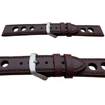 Grand Prix Brown Calf Leather Watch Strap